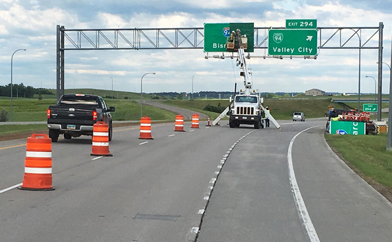 I-94 sign replacement
